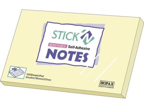 Notes Stick'n Notes 76x127mm gul